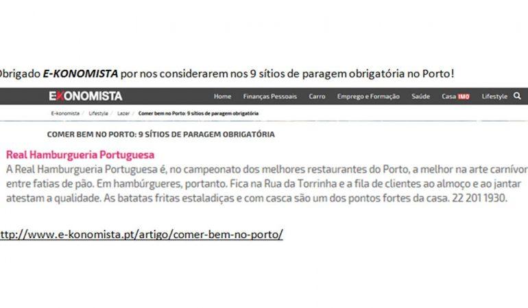 Comer bem no Porto – Ekonomista